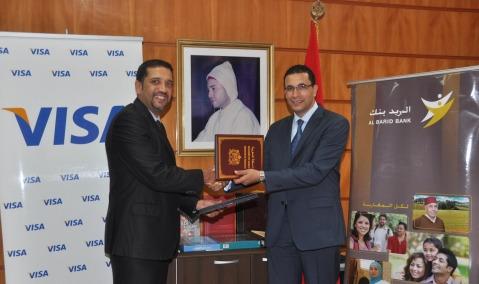 Barid Bank et Visa signent un accord Rabat 2013