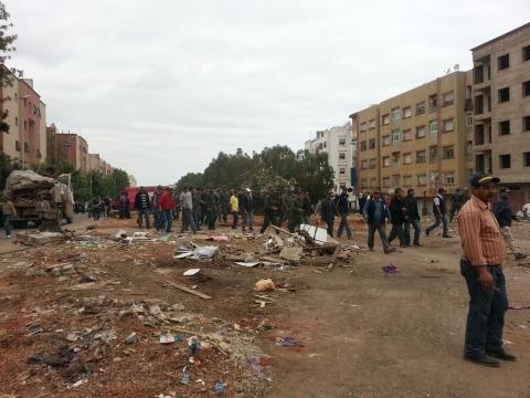 Opration lutte contre occupation de l espace public Casablanca 2013