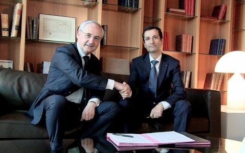 Franois Prol BPCE Mohamed Benchaaboun BCP Maroc 2013