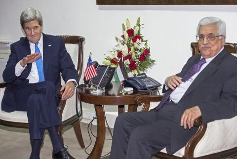 John Kerry et Mahmoud Abbas
