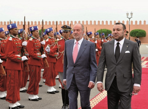 SM Juan Carlos et SM Mohammed VI Rabat juillet 2013