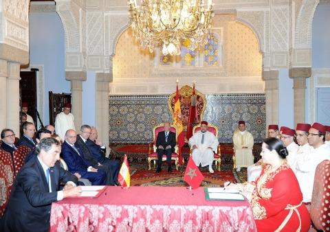 Signature accords maroc espagne juillet 2013