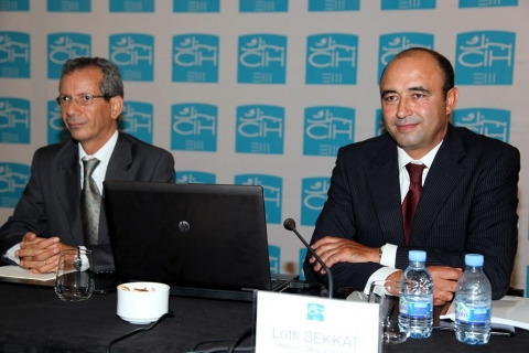 Ahmed rahhou pdg cih et lotfi sekkat dg delegue cih