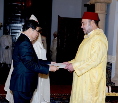 Ambassadeur accredites par roi mohammedVI septembre 2013