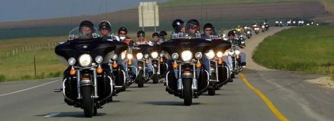 Balade de motards maroc