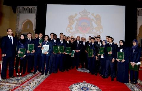 Laureats ofppt et roi mohammed6 au palais royal de casa