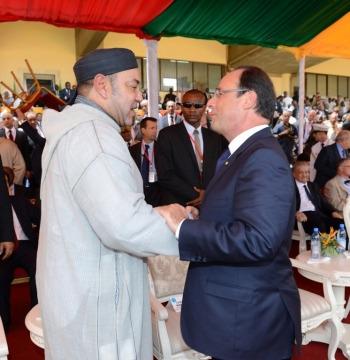 Roi mohammedVI president hollande au mali septembre 2013