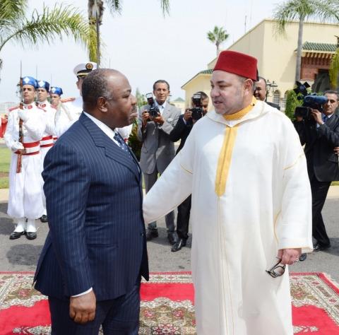 Roi mohammed VI president Bongo