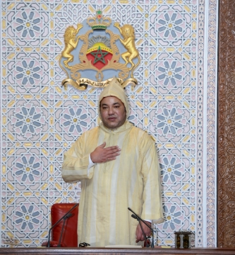 Roi mohammedVI ouverture du parlement octobre 2013