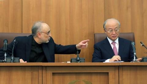 Ali akbar salehi iran et yukiya amano aiea photo AFP