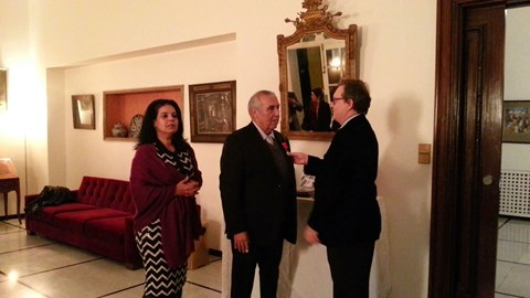 Consul general de France et epouse Casablanca decoration retnani nov 13