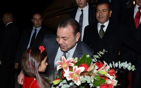 Roi MohammedVI arrive a Washington novembre 2013