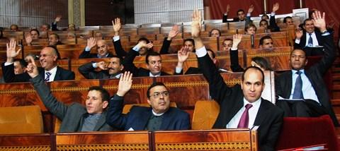 Vote au parlement maroc