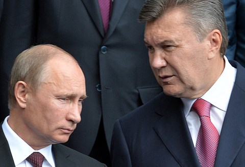 Poutine president russe et ianoukovitch president ukrainien