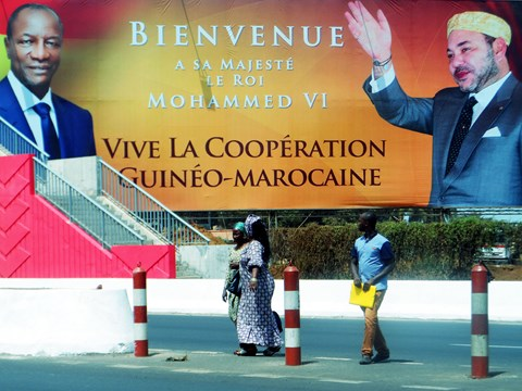 La guinee reoit roi du maroc mars 2014