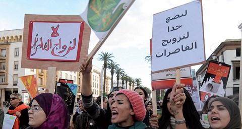 Manif maroc contre mariage des mineures