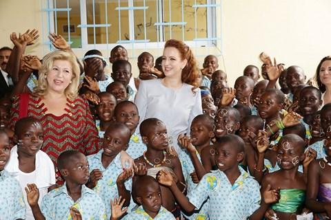 Princesse lalla salma et dominique ouattara abidjan 2014
