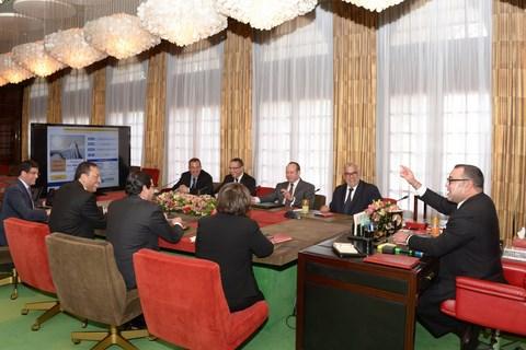 Reunion avec roi mohammedVI plan solaire mars 2014