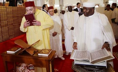 Roi MohammedVI President Bongo au gabon mars 2014