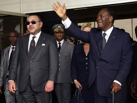 Roi du Maroc et President Ivoirien mars 2014