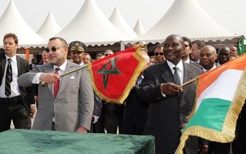 Roi du Maroc et premier ministre Ivoirien Abidjan fevrier 2014