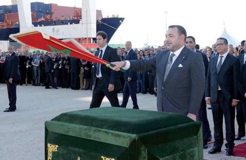 Roi du maroc a tanger med mars 2014