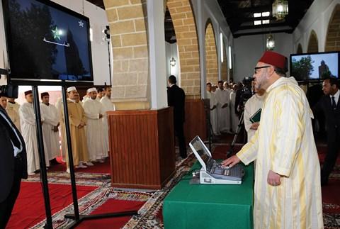 Roi mohammedVI medina casablanca avril 2014