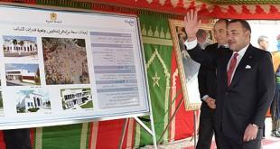 mohammedVI lance travaux tanger mars 2014