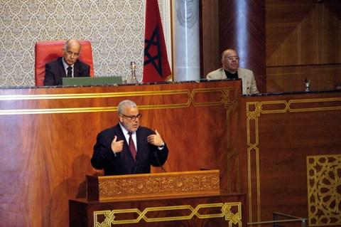 Benkirane chef de gouvernement au parlement maroc mai 2014