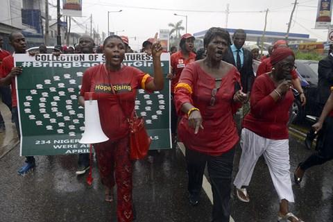 Manif nigeria contre boco haram