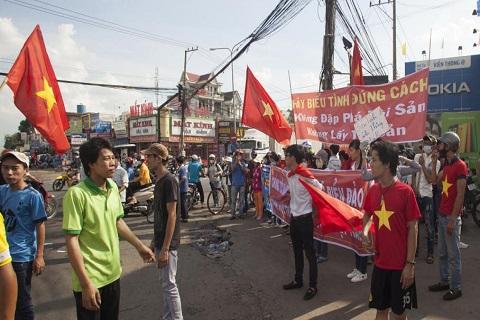 Vietnam manif contre la chine