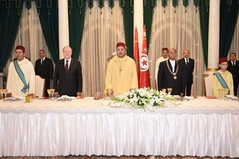Dner officiel roi mohammedVI tunisie
