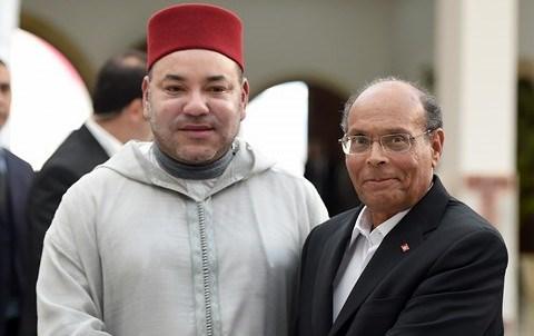 Roi mohammedVI et president marzouki tunis