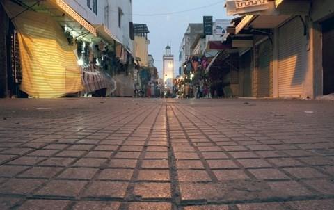 Rue deserte maroc