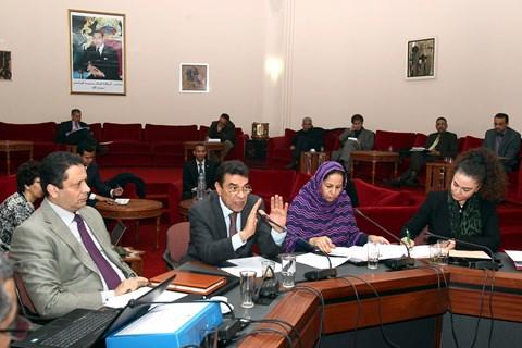 Travaux commission parlement maroc
