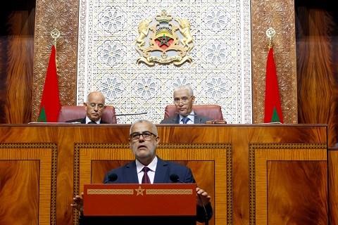 Benkirane bilan d etape devant parlement juillet 2014
