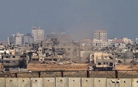 Gaza bombardee par israel 2014