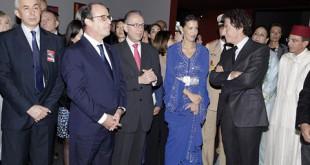Inauguration expo maroc contemporain octobre 2014