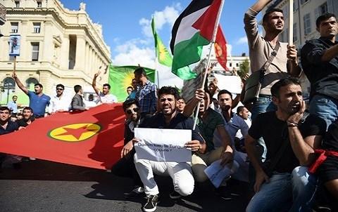 Manifestation contre turquie octobre 2014 photo afp