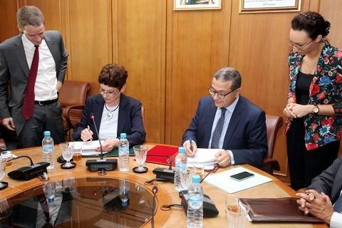 Maroc berd signature accord de siege 2014