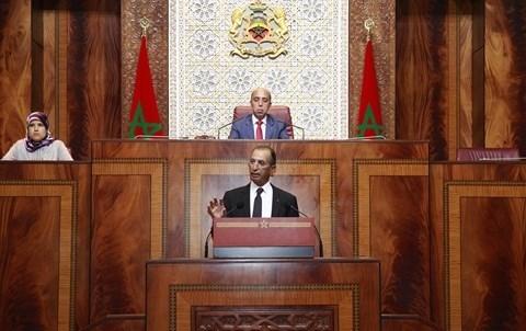 Ministre de l interieur hassad maroc au parlement
