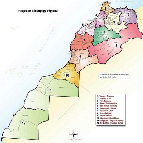 nouvelle carte maroc