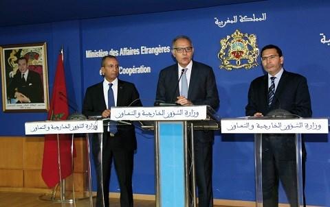 Conference annonce soutien du maroc aux emirats unis octobre 2014
