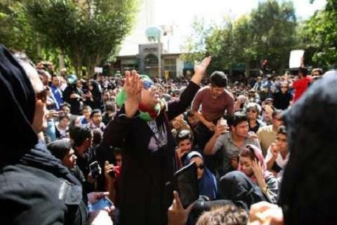 Iran manifestation femmes 2014