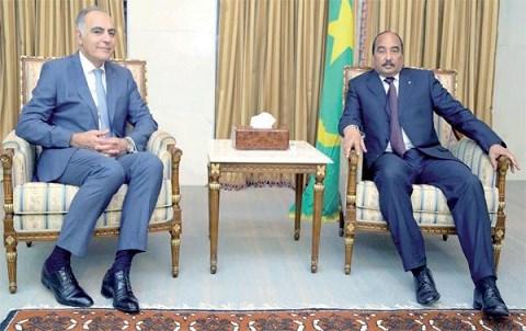 Mezouar recu par president mauritanien octobre 2014