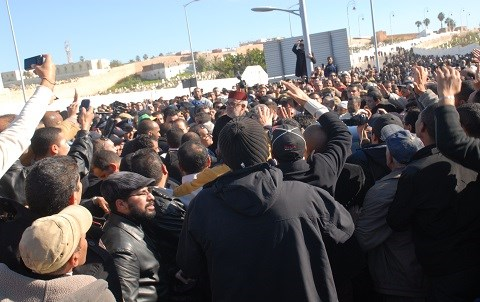 Benkirane aux funerailles de abdellah baha decembre 2014