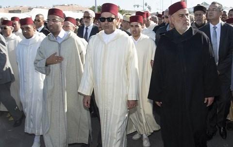 Sar moulay rachid aux funerailles de feu baha decembre 2014