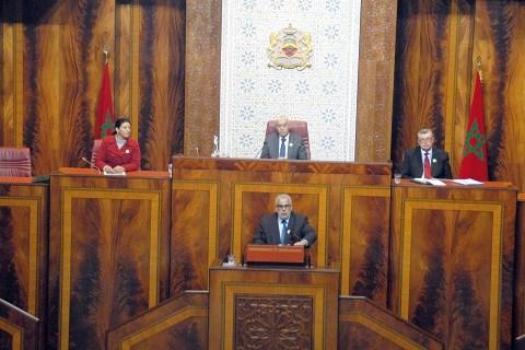 Benkirane au parlement maroc