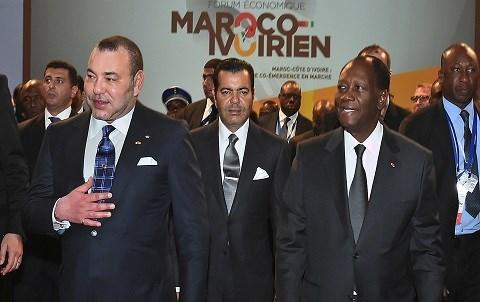 Roi mohammed 6 president ouattara