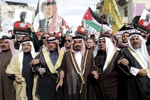 Manif jordanie contre daech apres pilote brule vif fevrier 2015